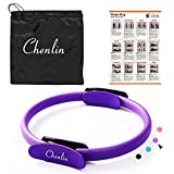 Chenlin Pilates Ring-14 inch Dual Grip Handles,Yoga Fitness Circle,Exercise Unbreakable Magic Circle,Body Ring Home Workout for Toning and Fitness Thighs, Abs and Legs