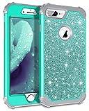Lontect Compatible iPhone 8 Plus Case Glitter Sparkle Bling Heavy Duty Hybrid...