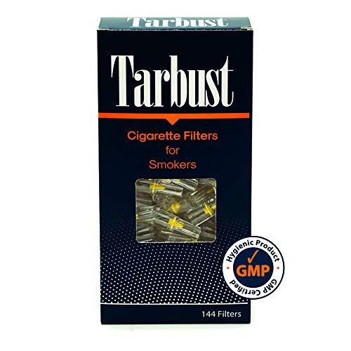 Tarbust Filtros para Cigarrillos, Filtros Desechables, 1 Paquete de 144 Filtros | Con il Sistema de Bloqueo de Nicotina | Compararlo con Cut-Nic
