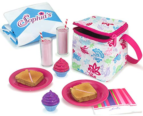 Sophia's Doll Food Picnic Playset   12 Pieces Include Cooler, Picnic Blanket, Napkins and Food for 18 inch Dolls