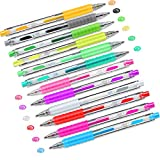 12 Colors 3D DIY Painting Jelly Pen Set Self Outline Watercolor Gel Ink Pens Ornaments Glossy Jelly Ink Pen DIY Highlighters Painting Pen for Writing Painting Journaling Taking Notes