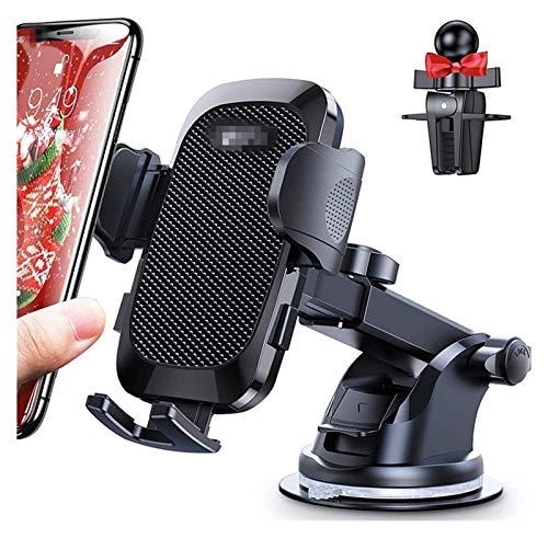 Tenedor de teléfono del automóvil, 3 en 1 Tenedor de teléfono universal para el controlador de parabrisas del automóvil Ventilación de aire, botón de rotación de doble lanzamiento de 360 ° de 360 