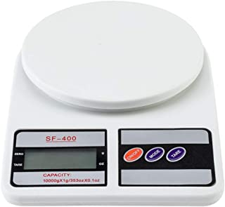Digital Multifunction Kitchen and Food Scale SF-400 10KG / 1g Kitchen Mail LCD Digital Scale White