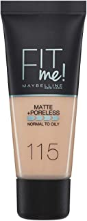 Maybelline New York Fit Me Matte + Poreless Face Foundation - 30 ml, Ivory 115