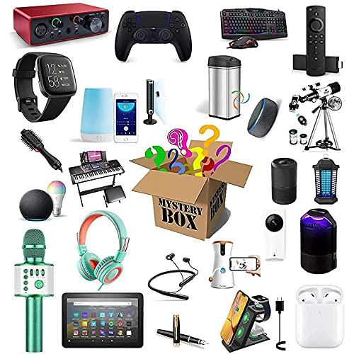 Cajas misteriosas, cajas sorpresas, cajas de la al azar, que contienen de productos y regalos inesperados. Hay una oportunidad de abrir relojes inteligentes, gamepads, etc.2 productos aleatorios