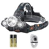 BORUIT RJ-3000 Super Bright 5000 Lumens Waterproof USB Rechargeable LED Headlamp Head Torch
