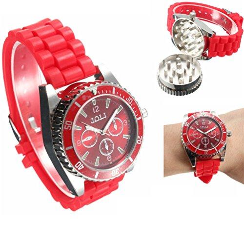 TANKACE Multifunktionale Uhr Legierung Armbanduhr Kräuter Gewürz Grinder in 4 Farben erhältlich
