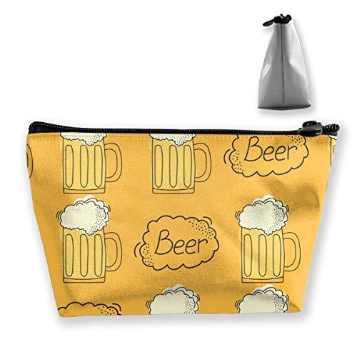 Bier-Muster-Karikatur-Art-kosmetische Make-upbeutel- / Beutel- / Kupplungs-Reise-Fall-Organisator-Speicher-Tasche für Frauen Zusatz-Toilettenartikel-Schönheit, Hautpflege-Reise-Zusatz