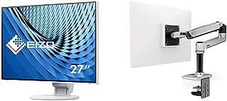 【セット買い】EIZO FlexScan 27.0インチ ディスプレイモニター (4K UHD/IPSパネル/ノングレア/ホワイト/USB Type-C搭載/5年間保証&無輝点保証) EV2785-WT & エルゴトロン LX デスクマウント ...