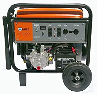 how much propane does a home generator use