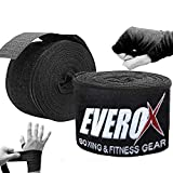 Everox Elastic Professional Ultra 180 inch Hand Wraps for Men, Women - Handwraps for Boxing Kickboxing Muay Thai MMA &BJJ Hand Wrist Support 4.5 Meter