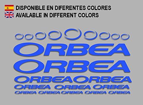 Ecoshirt 7P-MPYJ-092N Pegatinas Orbea F208 Stickers Aufkleber Decals Adesivi Bicycle Bike MTB BTT, Azul