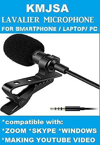 Kmnic [Buy 1 *Get 1 *Free] Best 3.5mm Clip Microphone Collar Mic for YouTube and Recording Mike for Voice Recording, Lepel Mic Mobile, Android Smartphones, Camera, for Online Classes (Pack 2)