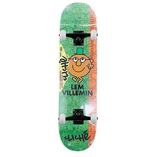 Cliche Lem Villemin skateboard Monsieur Madame R7Pro skateboard completo bianco 19,7cm