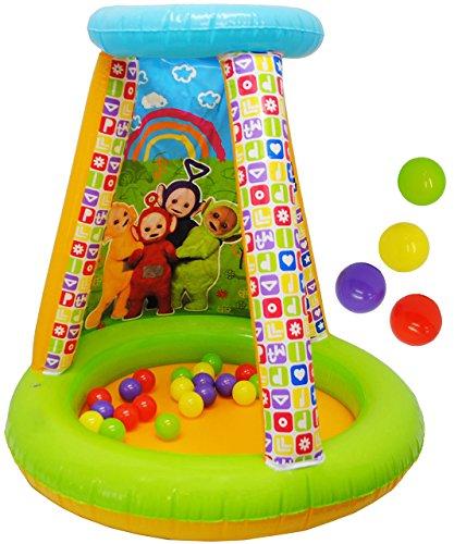 alles-meine.de GmbH Bällepool / Kugelbad -  Teletubbies  - incl. 20 Stück Bälle - Pool aufblasbar - Zelt für INNEN & AUßEN - Bällebad / Ball - Bad - Spielzeugbälle - Kinderbäll..