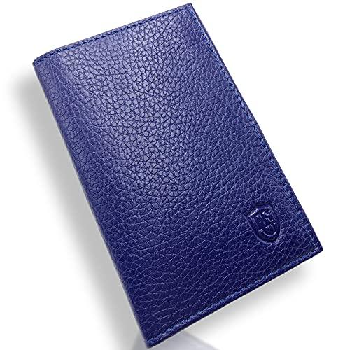 Portarrollos de piel para coche – Organizador – Funda para tarjeta gris, permisos, tarjetas de identidad, tarjetas, muy completo, piel suave para hombre o mujer