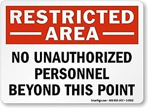 no unauthorised personnel