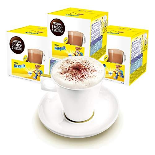 Nescafé DOLCE GUSTO Tassen Geschenkset, 3 Packungen mit Becher Nesquik, Kakao, Schokolade, Kapseln
