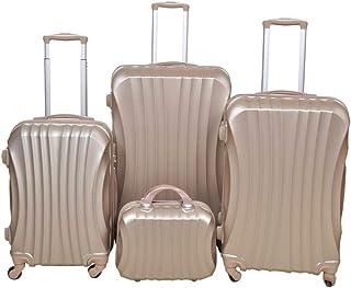 نيو ترافل مجموعة حقائب سفر بعجلات، 4 قطع، ذهبي
