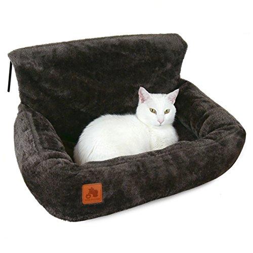 SCHLITZOHR Premium Katzenbett Lucky für die Heizung | kuschelige Heizungsliege (Dunkelbraun)