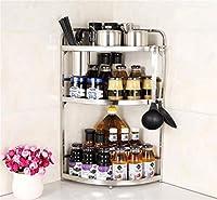 BLFJJYP キッチン収納棚 キッチンコーナーシェルフ、ステンレススチール調味料ラック、収納ラック、キッチンラック (Color : 4#)