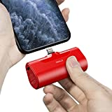 iWALK Mini Chargeur Portable 4500mAh, Power Bank Ultra Compacte, Batterie Externe Compacte et Mignonne Compatible avec iPhone 11 Pro/XS Max/XR/X/8/7/6/Plus et Plus (Rouge)
