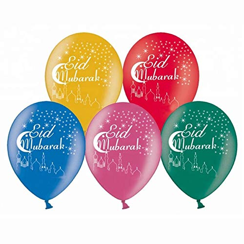Balloon World Eid Mubarak Latex Balloons Nightmare Before Christmas Decorations Christmas Clearance Decorations 12inch -10pack