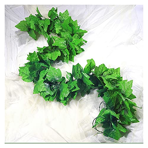 Plantas artificiales Onda De Folhas Verdes Artificiais 2.4m, Barata, Onda De Folhas Verdes Artificiais, Flor De Videira, Decoração De Casa, Corrente De Rattan De Plástico Flores artificiales hierba