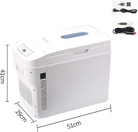 YXWbx Neveras de Viaje 28L portátil pequeño compresor del refrigerador del Coche del vehículo Nevera Congelador/Calentador - Ideal for Acampar, ...