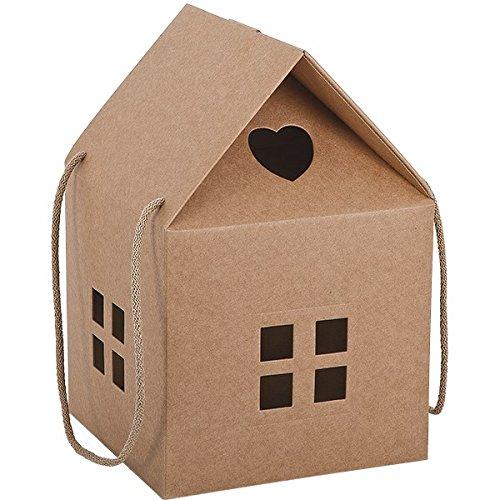 Propac z-pan20ca caja regalo cartón forma a casa, 20x 20x 18cm, 20unidades