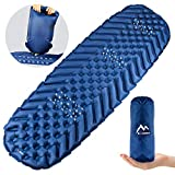 BAGLOBAL Camping Sleeping Pad, Ultralight Camping Sleeping Mat with Inflatable Bag, The Most Suitable Sleeping Mat for Backpacking, Hiking air Cushion-Inflatable Compact, Camping Sleeping Mat