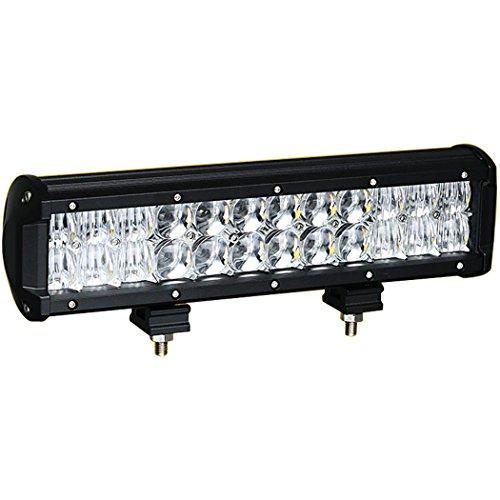 AUXTINGS 30,5 cm(12 inch) 72W Spot Flood 5D Barre lumineuse LED de travail double rangée Combo Faisceau Off Road Conduite ampoule de brouillard DC 12V-24V Waterproof