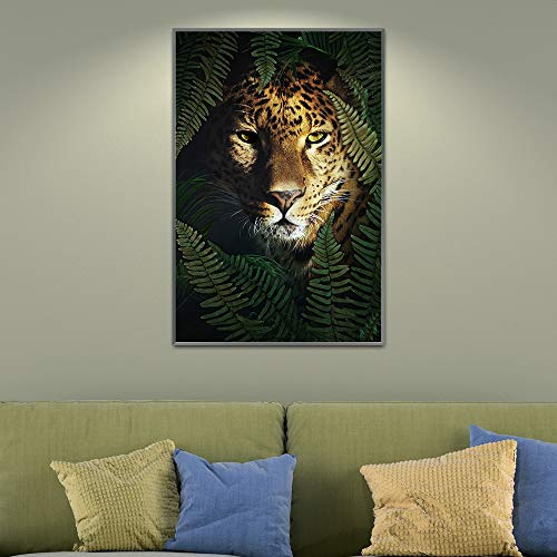 Yulernka Flower Animal Canvas Painting Wall Art Nordic Print Creativity Poster Pictures For Living Room Decor 30x45cm