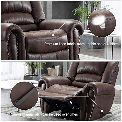 Bonzy-Home-Recliner-Manual-Recliner-Chair-Faux-Suede-Fabric-Swivel-Glider-Classic-Recliner-Sofa-Chair-Home-Theater-Seating-Bedroom-Living-Room-Reclining-Sofa-Chair