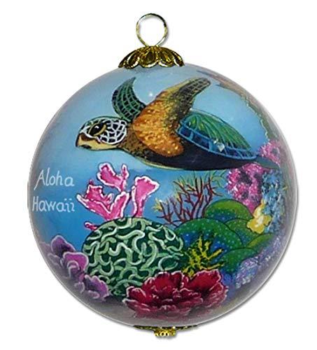 Collectible Hawaiian Christmas Ornament: Corals and Sea Turtles