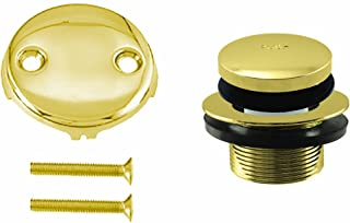 Westbrass Tip Toe Tub Trim Set with Two-Hole Overflow Faceplate, Polished Brass, D93-2-01