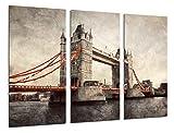 Cuadros Camara Poster Fotográfico Paisaje Londres Vintage, Puente de Londres, Tower Bridge Tamaño total: 97 x 62 cm XXL, Multicolor