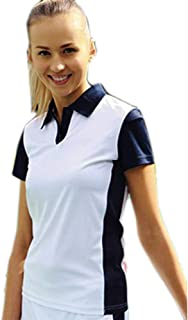 DFI Ladies Sports Polo. Ladies Sports and Activewear Polo (with Matching Skort Ck1204) 100% Polyester Jersey Fabric. 140Gsm