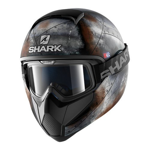 Shark Vancore Flare - Casco de Moto, Color Negro y Naranja, Talla M