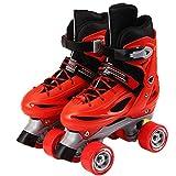 安全ロックストラップ、複数のサイズ、ABEC 7カーボンキッズインラインスケート調整可能靴のサイズでクワッドローラースケート、 L(35-38)