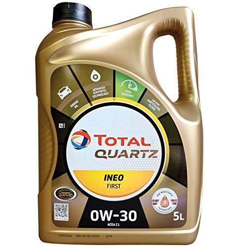 Total Quartz INEO première 0 W-30 Huile Moteur Entièrement synthétique Low Saps Car, 5 Litre
