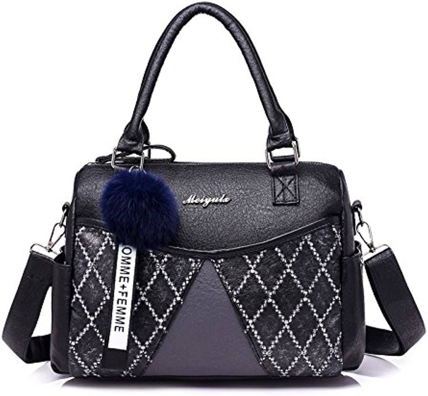AI BAO Lady Tote Bag Boston Bag Temperament Shoulder Bag Diagonal Bag