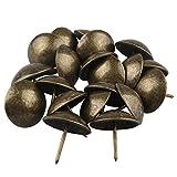 HALJIA 20 piezas 30 x 30 mm Vintage decorativo clavos para tapicería Stud para joyas caja de regalo de bronce antiguo sofá decoración