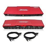 TESmart Red HDMI 4K Ultra HD 4x1 HDMI KVM Switch 3840x2160@60Hz 4:4:4