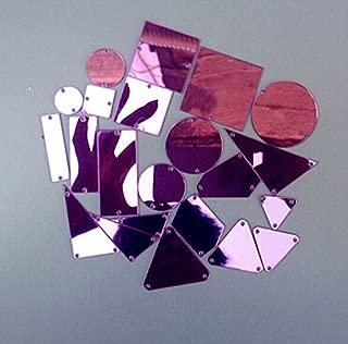 Sew On Acrylic Purple Mirror Diamante Rhinestone Crystal Flat Back Mirror Beads With Hole For DIY Wedding Dress Clothing Bags Shoes Decoration