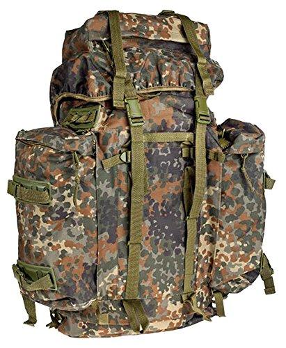 A. Blöchel Großer Bundeswehr Mountain Trekking Wander Rucksack 80+20 Liter (Flecktarn)