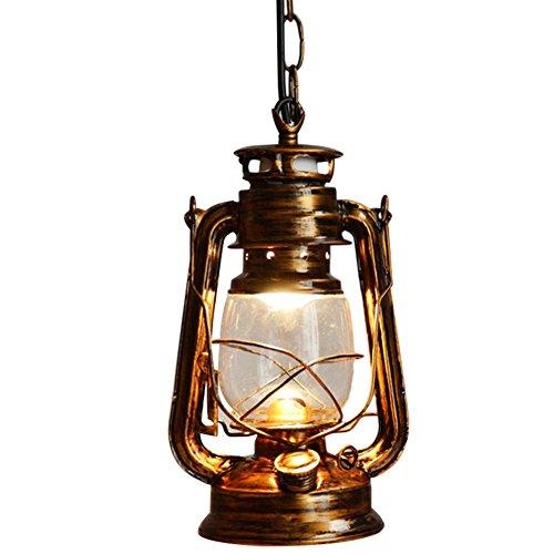 Chendongdong Edison Industrielle Retro Rustikal Vintage LED Pendelleuchte Hängeleuchte für E27 Leuchtmittel Lampenfassung Deckenleuchte Ceiling Einzel Lampe für Restaurant, Bar, Café 60W Bronze