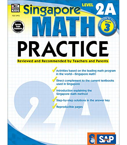 Singapore Math – Level 2A Math Practice Workbook for 3rd Grade, Paperback, Ages 8–9 with Answer Key
