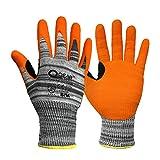 1 par de corte de nivel 5 HPPE/fibra de vidrio de punto forro de punto, guantes...