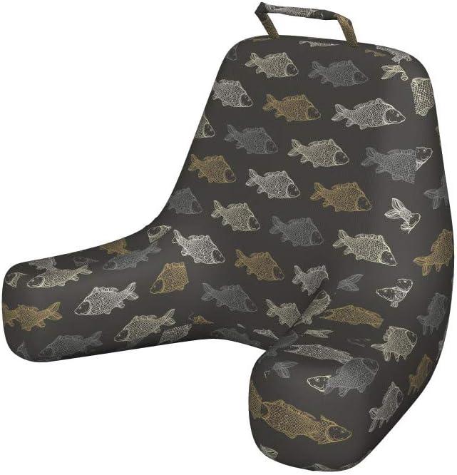 Ambesonne Fish Bedrest with Back Under Rhythmic Sale item Max 82% OFF Koi Pocket